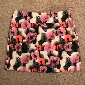 J. Crew Floral Printed Mini Skirt